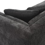 Canapé 4 places 240x95x70 tissu Noir