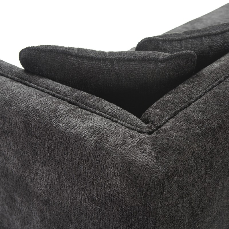 Canapé 4 places 240x95x70 tissu Noir - image 53278