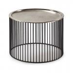 Hilfstisch 56X56X42 Eisen Schwarz/Silber