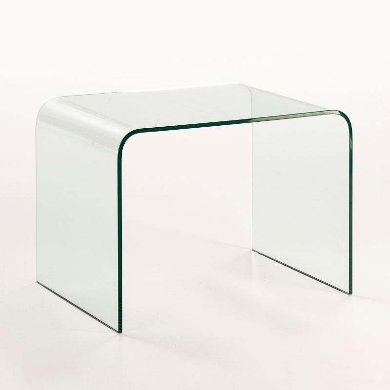 Auxiliary Table 60X45X45 Glass Transparent