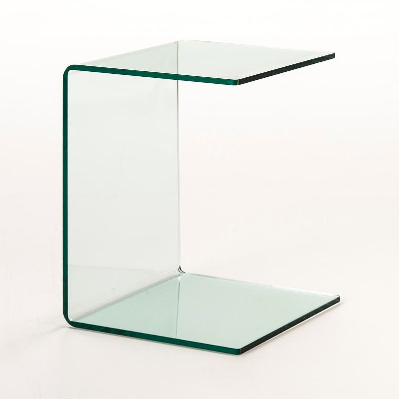 Auxiliary Table 40X40X53 Glass Transparent