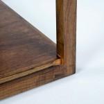 Beistelltisch, Beistelltisch 60X60X60 Glas Naturholz