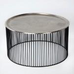 Kaffeetisch 80X80X42 Eisen Schwarz/Silber