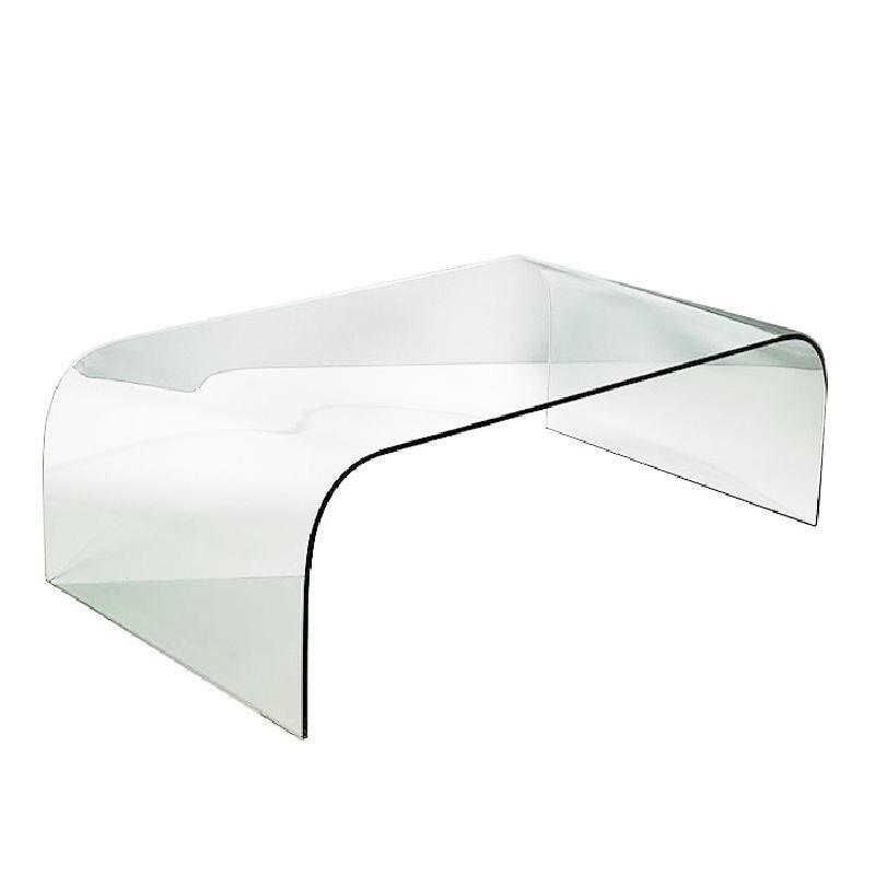 Tavolo Di Caffé 130X75X42 Vetro Trasparente