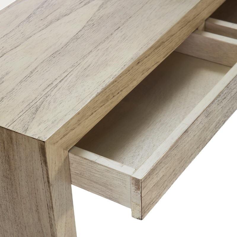 Konsole 3 Schubladen 140X30X75 Weiß Gebleichtes Holz - image 53318