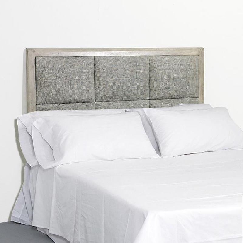 Headboard 162X9X137 Rattan Wood Grey Veiled - image 53330