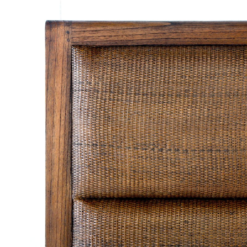 Headboard 162X9X137 Rattan Wood Natural Veiled - image 53332