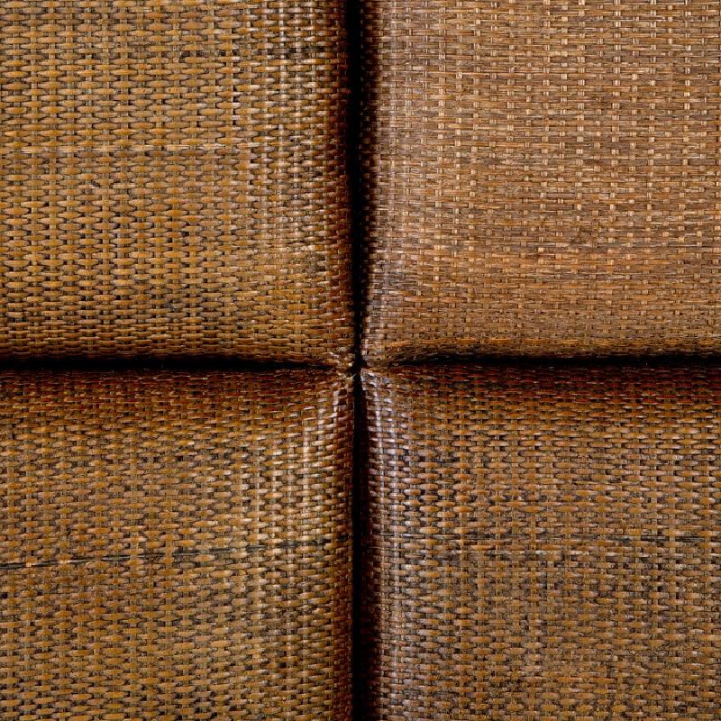 Kopfteil 162X9X137 Rattan Wood Brown - image 53333