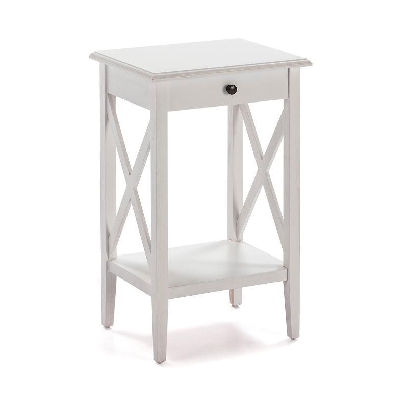 Nachttisch 42X35X70 Weißes Holz - image 53334