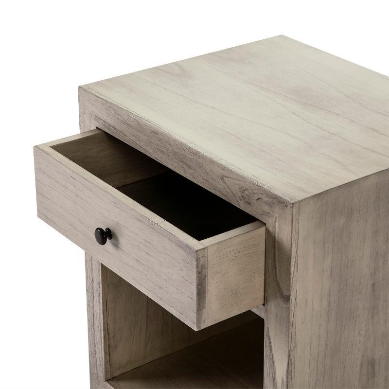 Nachttisch 50X40X55 Gebleichtes Graues Holz Modell 2 - image 53345