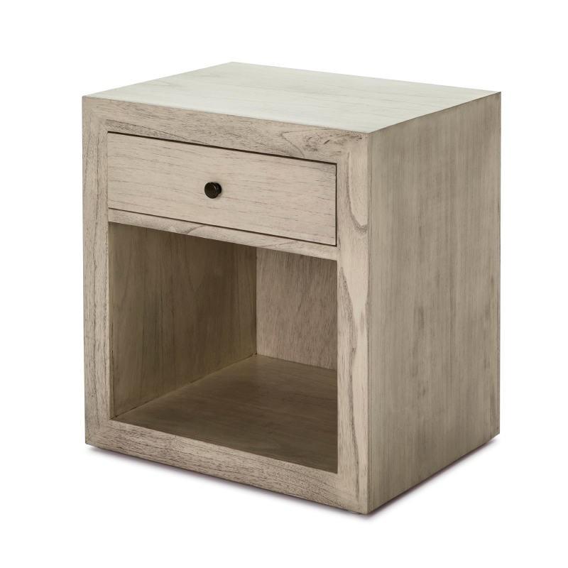 Table de chevet 50x40x55 Bois Gris blanchi Modèle 2 - image 53346