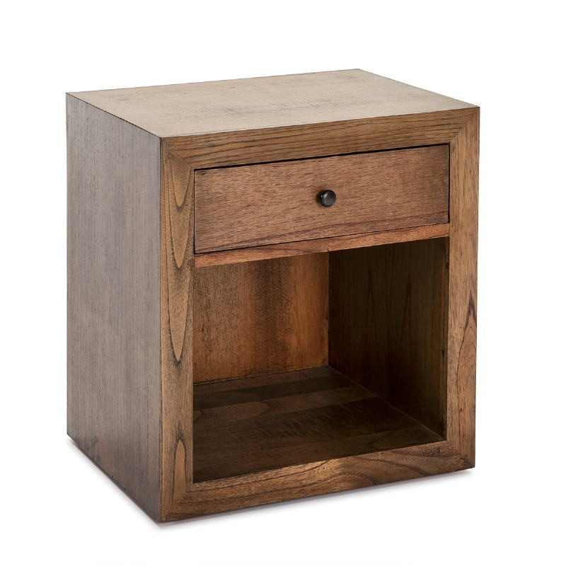 Bedside Table 50X40X55 Wood Natural Veiled
