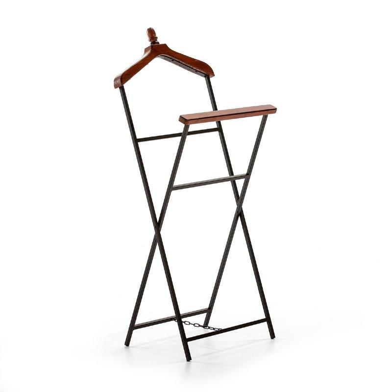 Clothes Rack Trouser Press 46X30X110 Metal Wood Brown