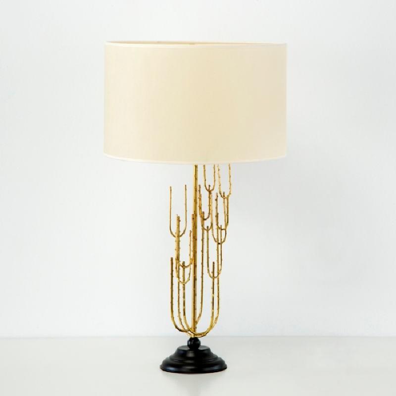 Lampada Da Tavolo Senza Paralume 17X50 Metallo Dorato
