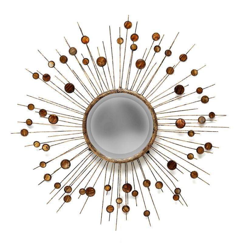 Miroir 98x5x98 Métal Nacre - image 53372