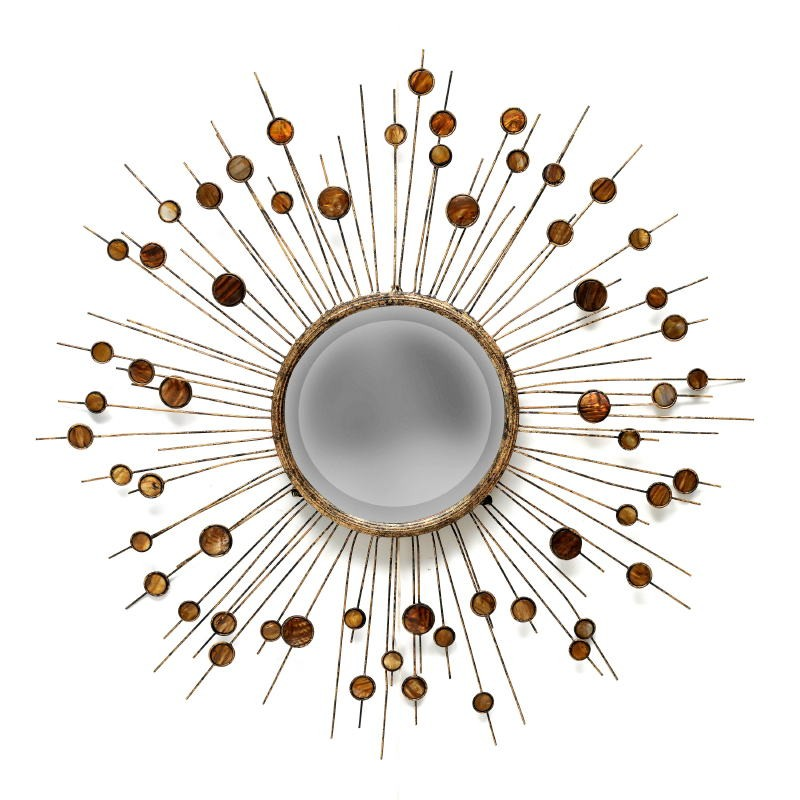 Specchio 98X5X98 Metallo Madreperla - image 53372
