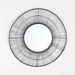 Specchio 61X2X61 Metallo Dorato Invecchiato