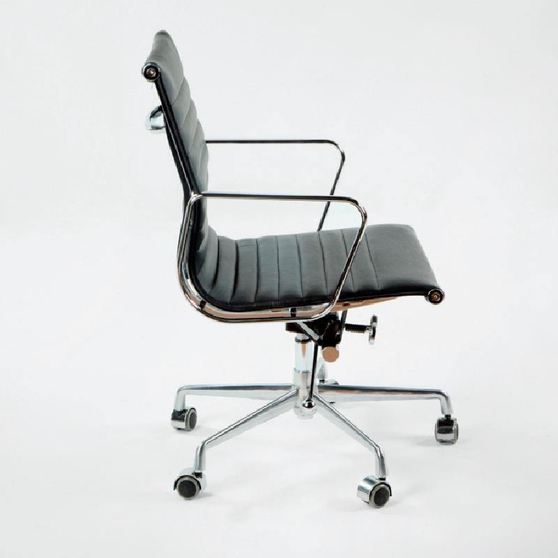Chaise de Bureau Réglable 58x64x89 97 Métal Cuir Noir - image 53412