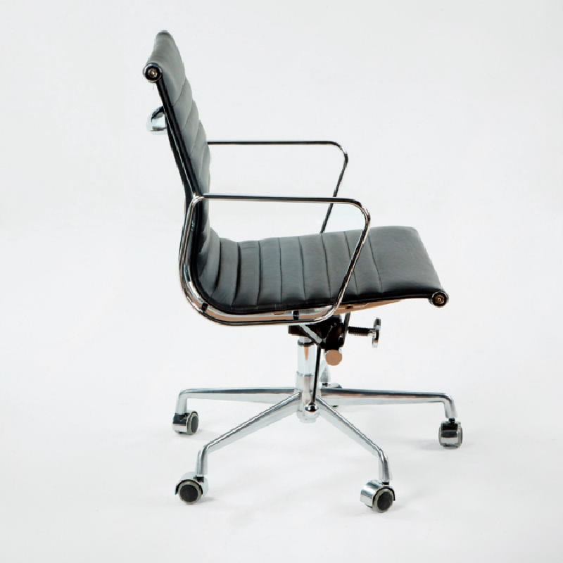 Office Adjustable Chair 58X64X89 97 Metal Leather Black - image 53412