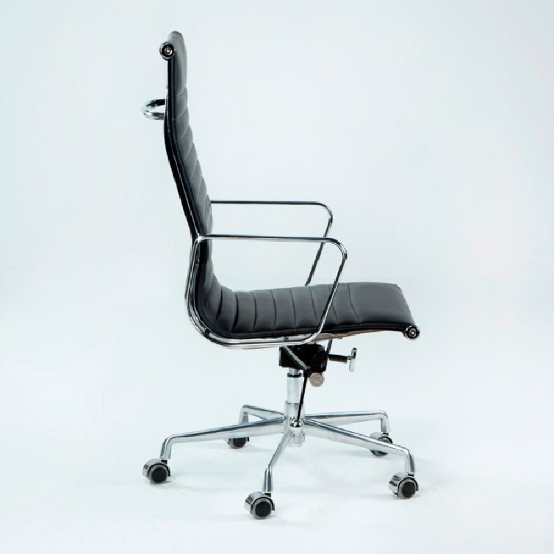 Office Adjustable Chair 58X64X107 115 Metal Leather Black - image 53417