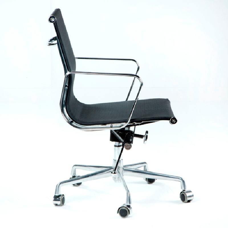 Chaise de Bureau Réglable 58x64x89 97 Métal Maille Noir - image 53419