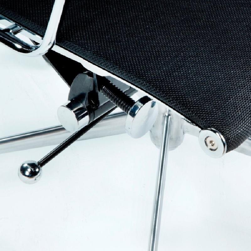 Office Adjustable Chair 58X64X89 97 Metal Mesh Black - image 53420