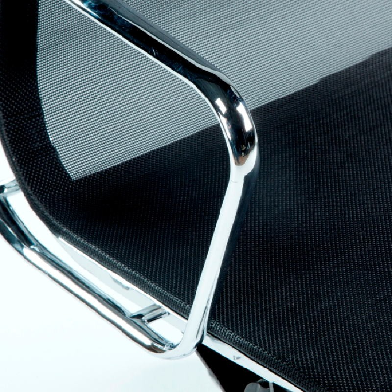 Office Adjustable Chair 58X64X89 97 Metal Mesh Black - image 53423