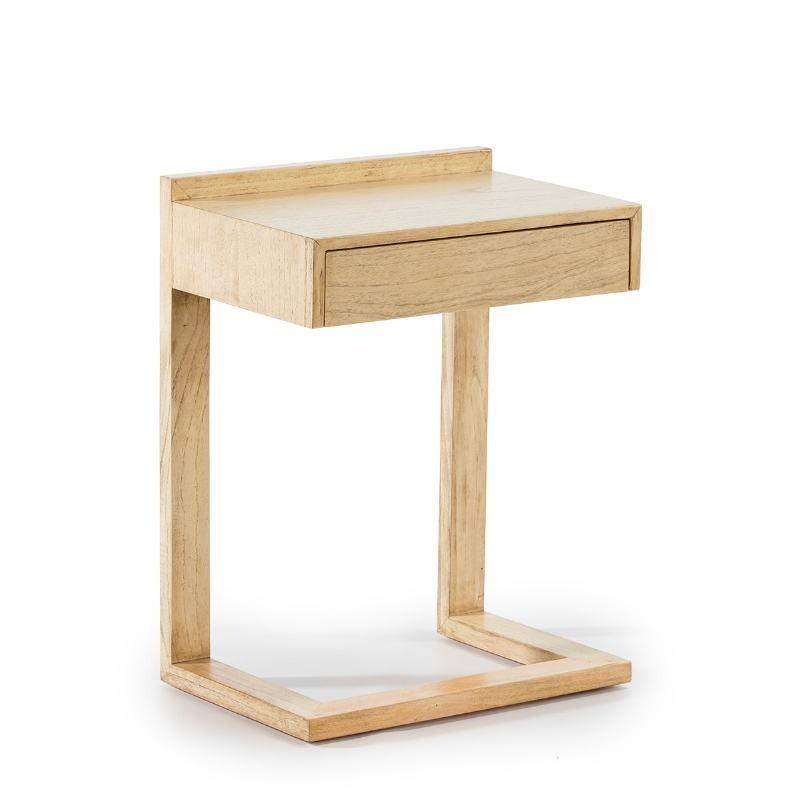 Nachttisch 50X35X66 Holz Weiß Verschleiert