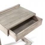Table de chevet 50x35x66 Bois Gris blanchi