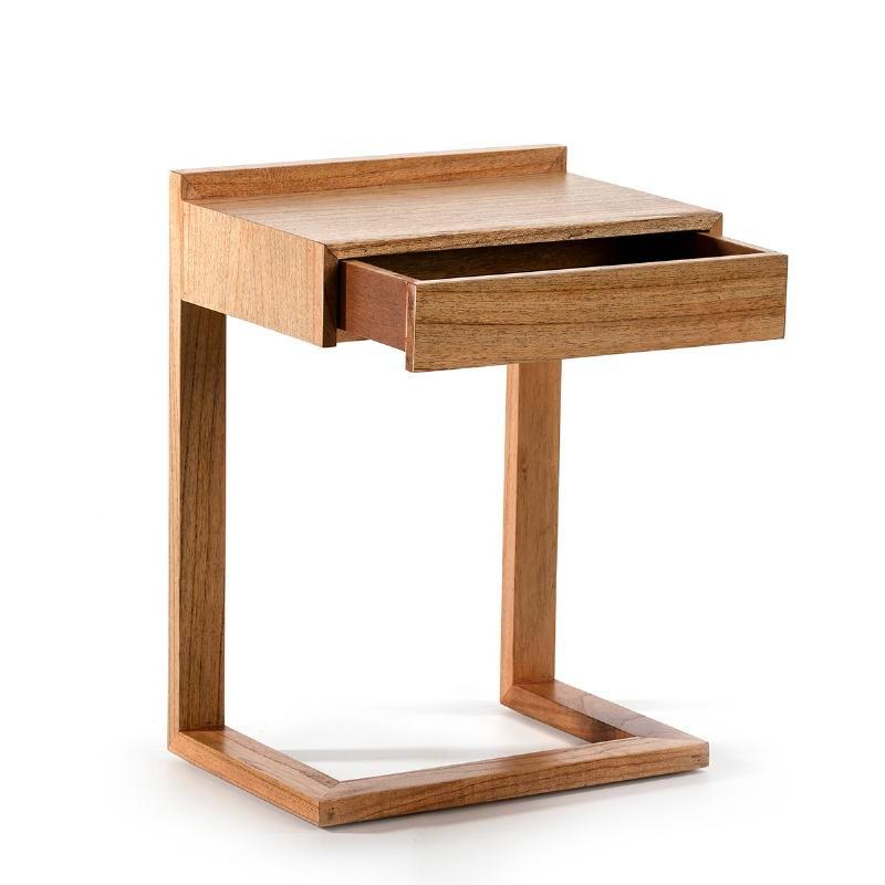 Nachttisch 50X35X66 Holz Natürlich Verschleiert - image 53445