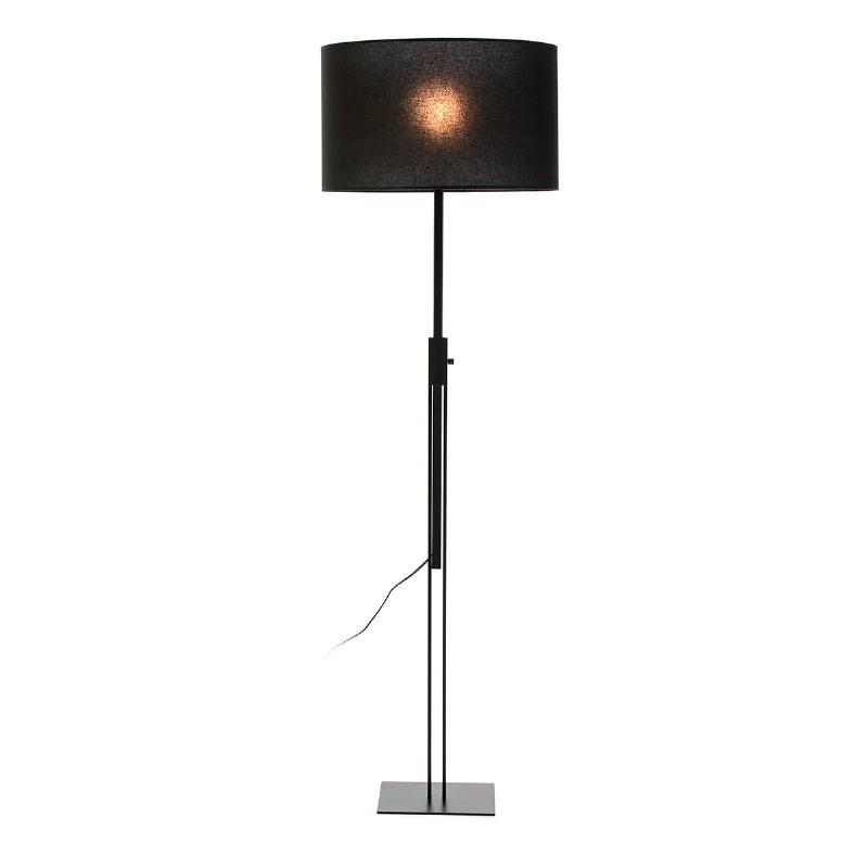 Lampada A Stelo Senza Paralume 25X25X100 200 Metallo Nero