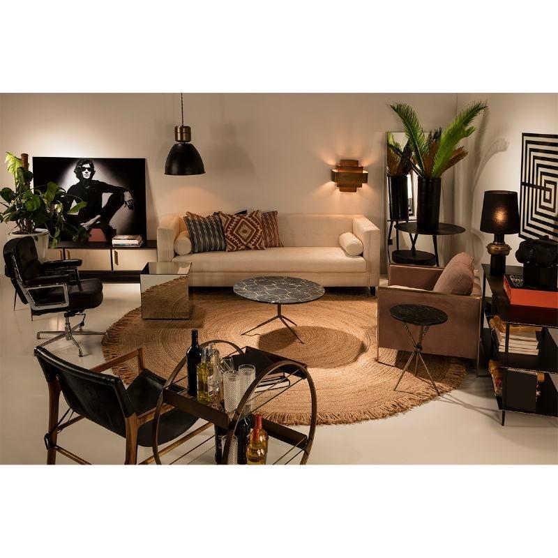 Table d'appoint, bout de canapé 45x45x45 Miroir - image 53469