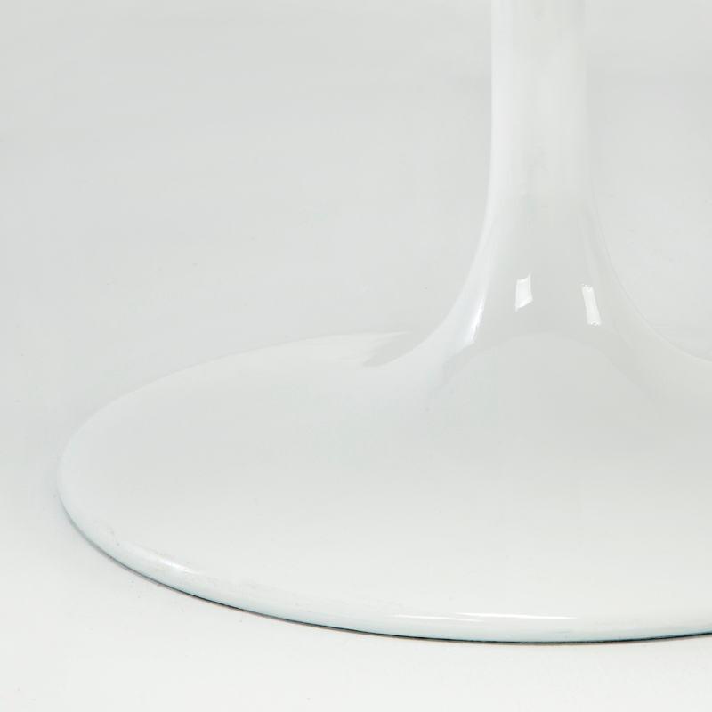 Table à Manger 90x90x75 Fibre de verre Blanc - image 53479
