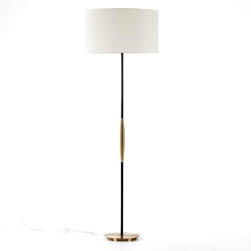 Lampada A Stelo Senza Paralume 24X140 Metallo Dorato Nero - image 53514