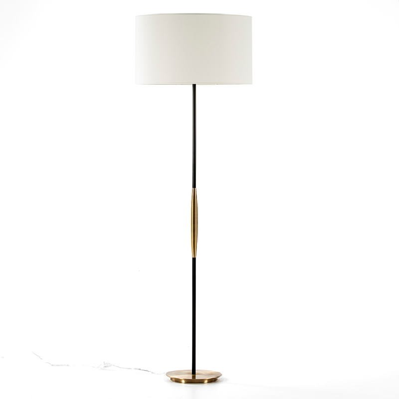 Standard Lamp Without Lampshade 24X140 Metal Golden Black - image 53514