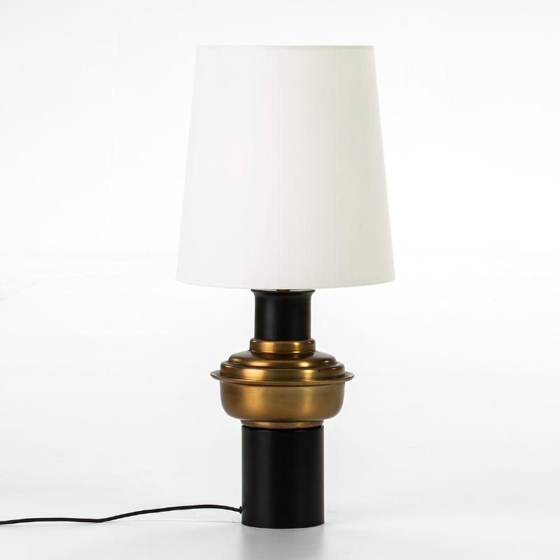 Lampe de Table sans abat-jour 20x41 Métal Noir Doré - image 53540