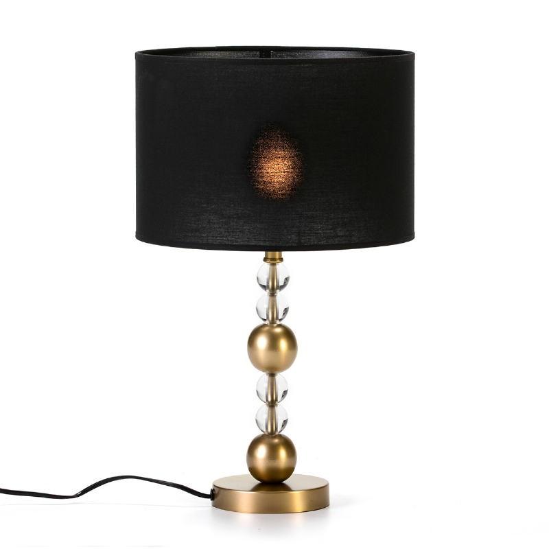 Lampe Auf Tisch Ohne Bildschirm 13X13X33 Metall/Acryl Golden/Transparent - image 53590