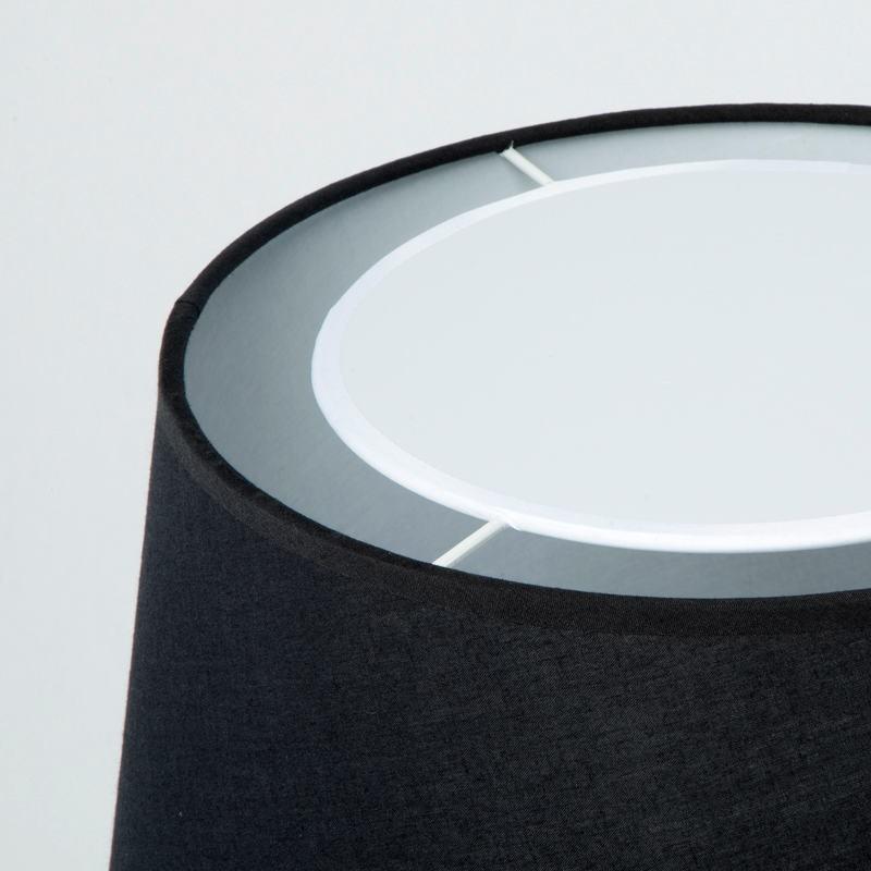 Lampada Da Tavolo Con Paralume 25X36X50 Metallo Nero - image 53595