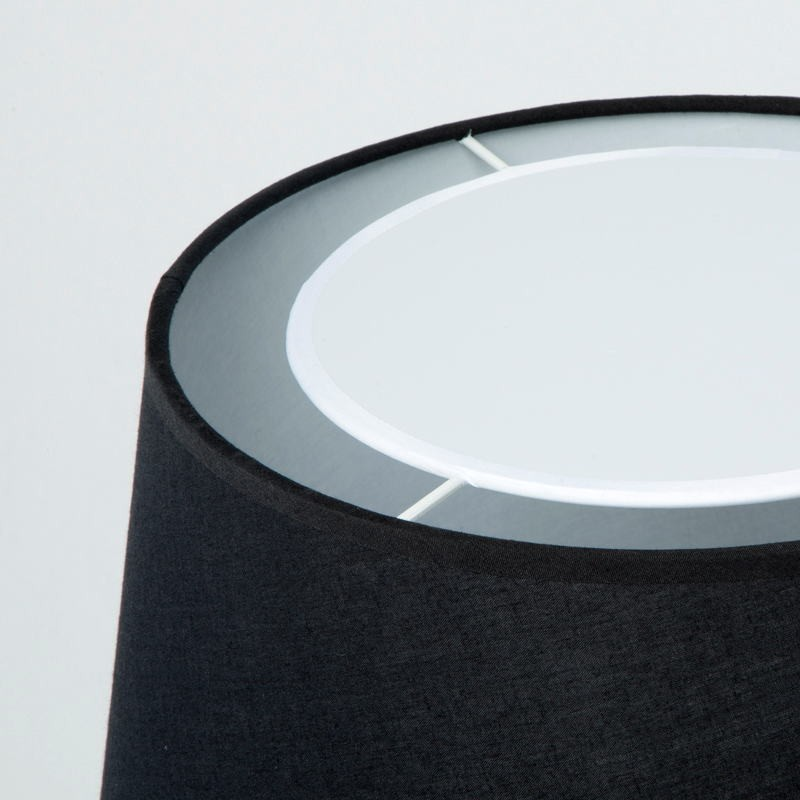 Table Lamp With Lamp Shade 25X36X50 Metal Black - image 53595