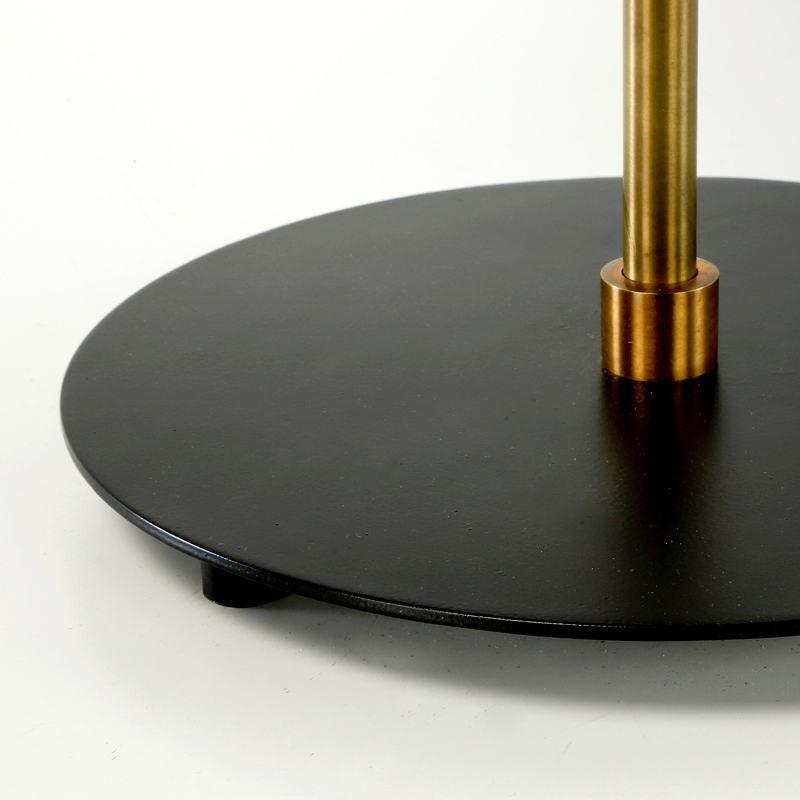 Lampe de Table avec abat-jour 43x58 Métal Noir Doré - image 53607