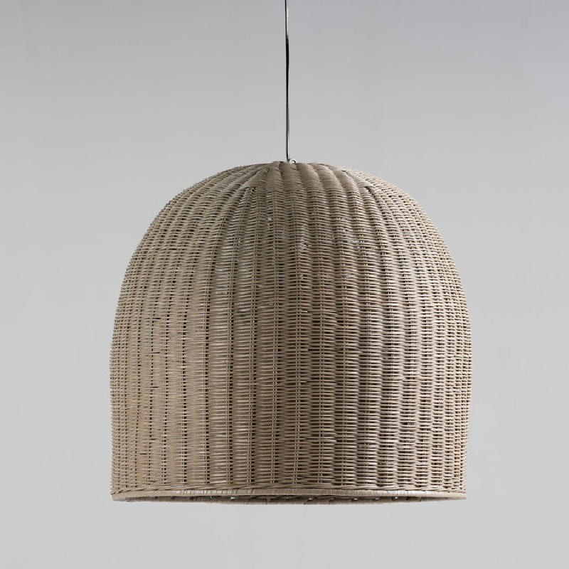 Hanging Lamp With Lampshade 60X60 Wicker Grey