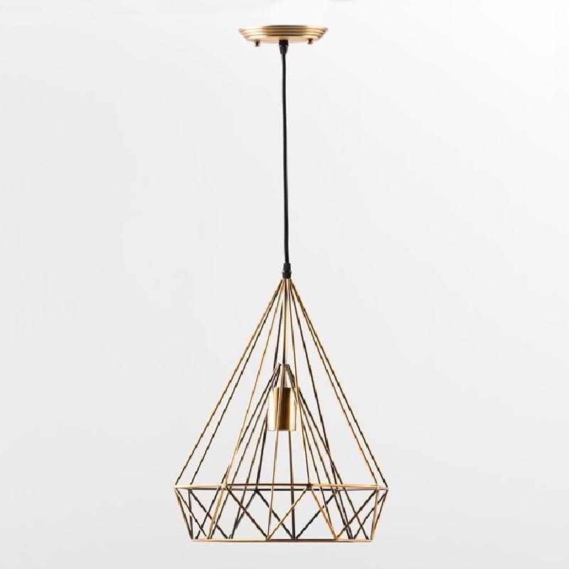 Lampe suspendue avec abat-jour 30x42 Métal Bronze