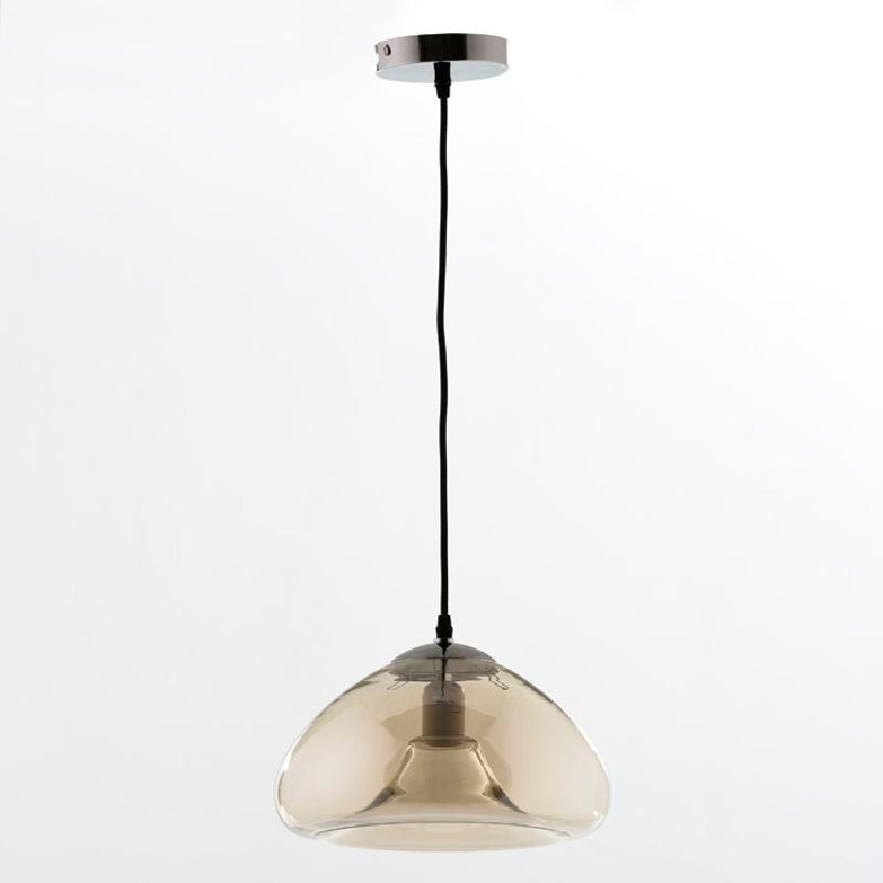 Lámpara Colgante Con Pantalla 30X18 Cristal Ambar