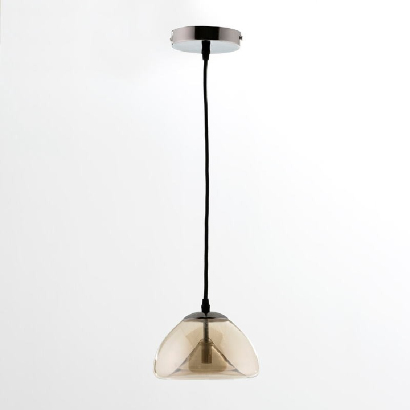 Hanging Lamp With Lampshade 20X14 Glass Amber