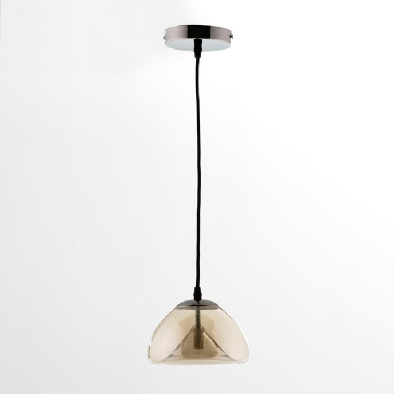 Lampe suspendue avec abat-jour 20x14 Verre Ambre