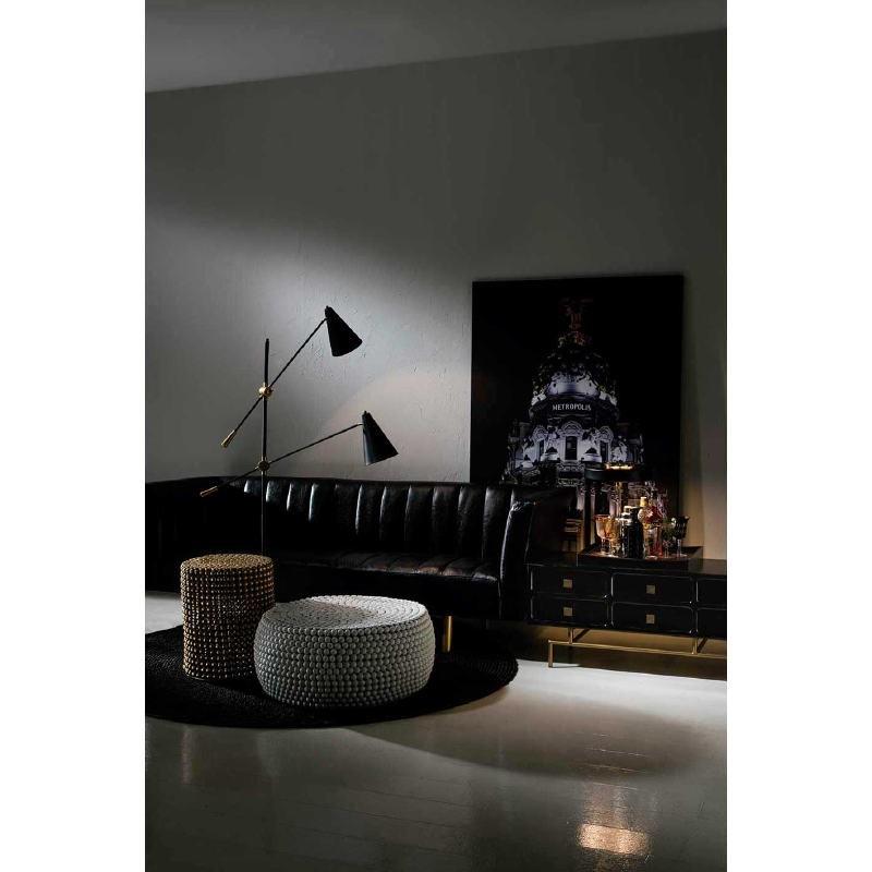 Lampadaire avec abat-jour 100x170 Métal Noir - image 53629