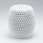 Sgabello 41X46 Metallo Bianco