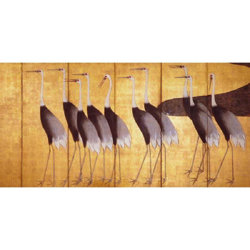 Serigrafía 200X5X100 Cigüeñas Amarillo - image 53634