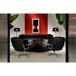 Set 3 Table d'appoint, bout de canapé 76x76x51, 60x60x42, 51x51x36 Métal Or Noir