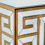 Anrichte 2 Türen 76X37X81 Spiegel/Mdf Golden